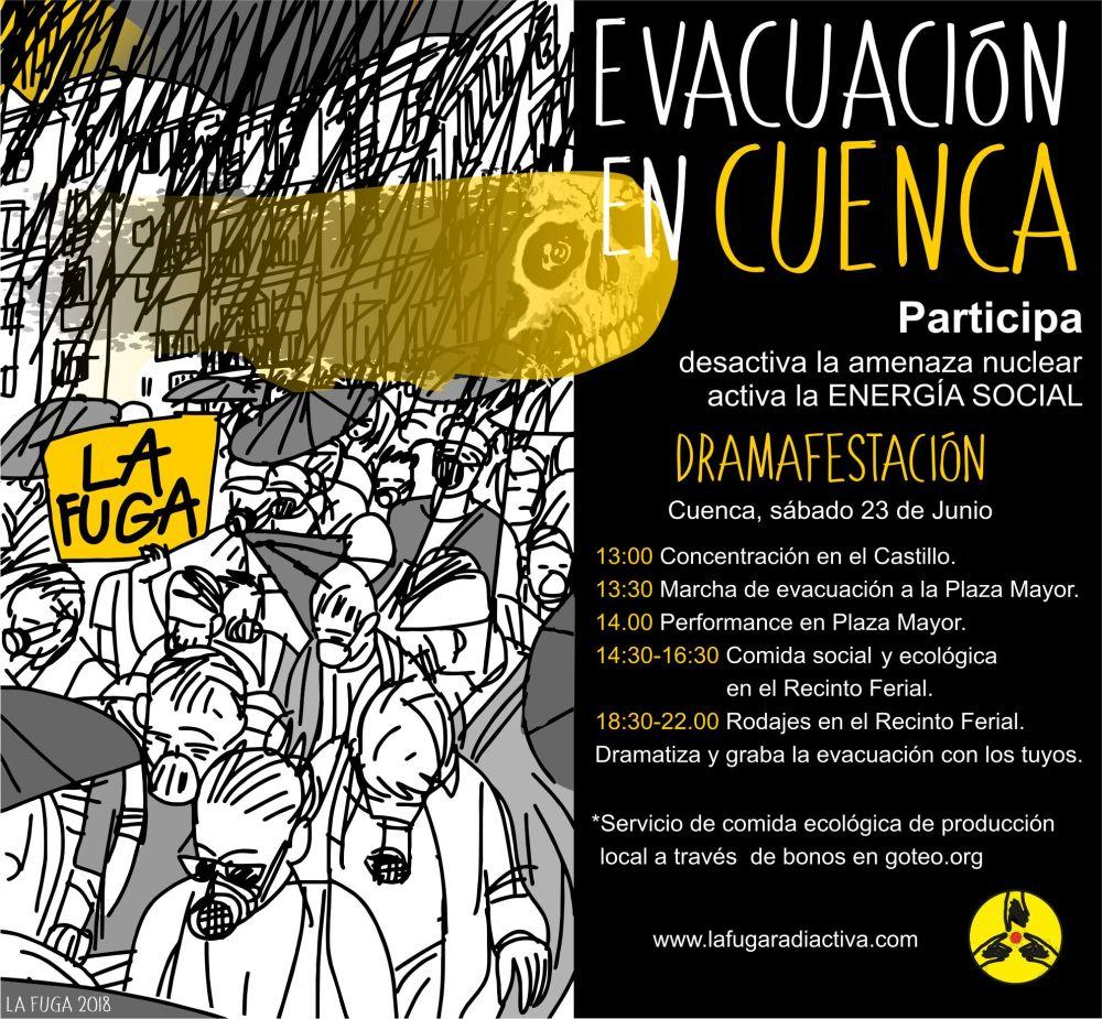 Evacuación en Cuenca - Cartel